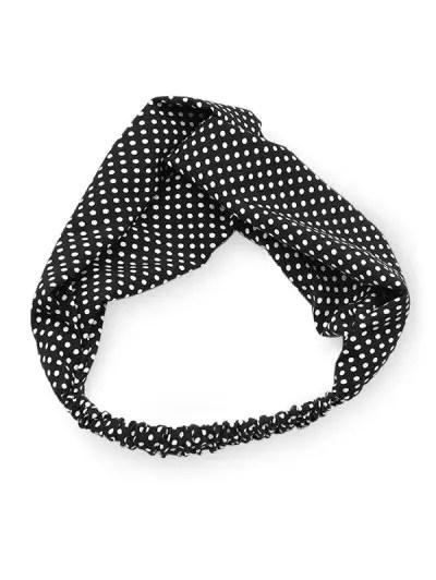 Polka Dot Pattern Elastic Hair Band