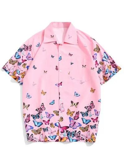 Butterflies Print Shirt