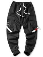 Contrast Strap Cargo Jogger Pants