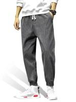 Striped Pattern Pocket Decorated Jogger Pants