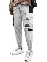 Graphic Pattern Pocket Design Jogger Pants