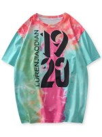 1920 Graphic Tie Dye 3D Print T Shirt