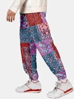 Flower Pattern Jogger Pants