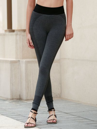Elastic Waist Skinny Yoga Pants For Women