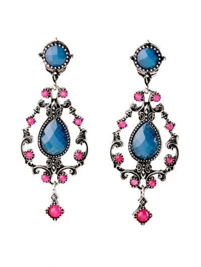 Pair of Stunning Water Drop Faux Crystal Earrings For Women