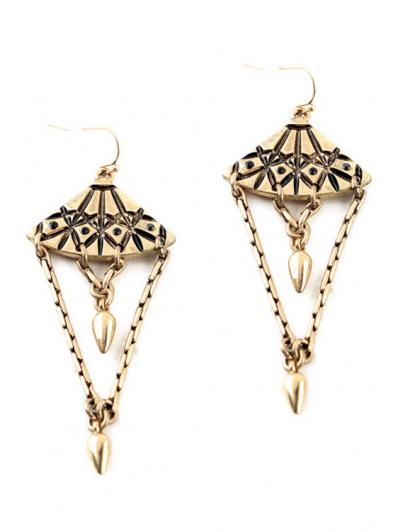 Pair of Vintage Alloy Bullet Drop Earrings For Women