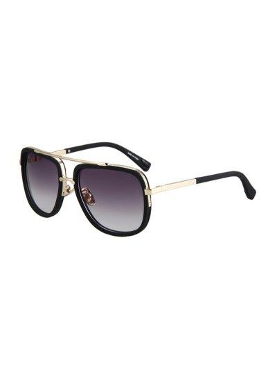 Alloy Match Matte Black Quadrate Frame Sunglasses For Women