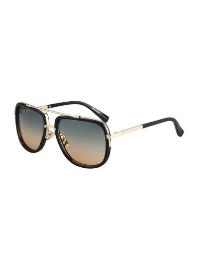 Alloy Match Gradual Color Lenses Sunglasses For Women
