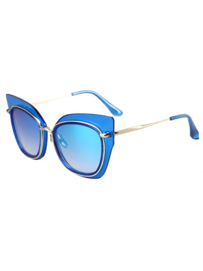 Alloy Match Cat Eye Frame Sunglasses For Women