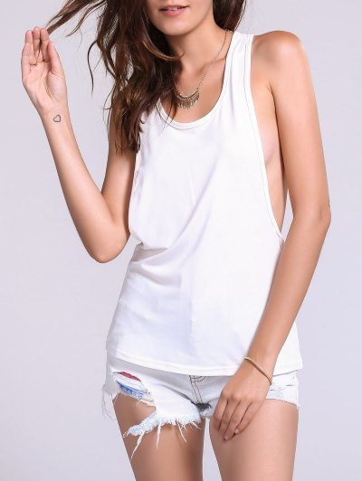 Candy Color Loose Open Back Sport Tank Top