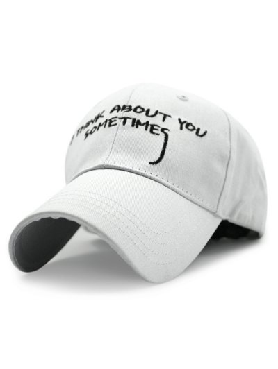 Sentence Embroideried Baseball Hat