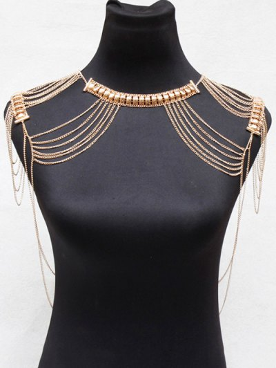 Vintage Alloy Hollowed Body Chain