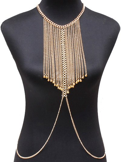 Vintage Alloy Geometric Body Chain
