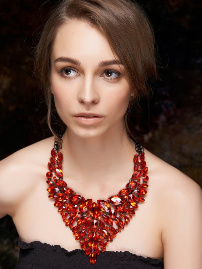 Faux Ruby Layered Necklace