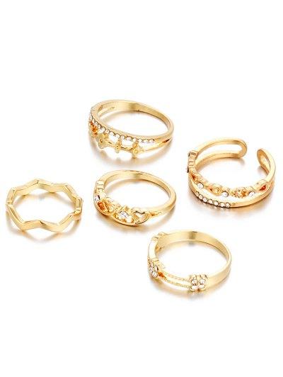 Charming Rhinestone Heart Rings