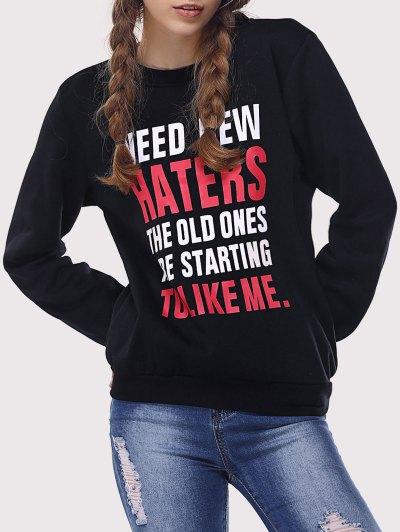Letter Print Funny Sweatshirt