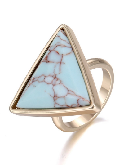 Chic Faux Rammel Triangle Ring