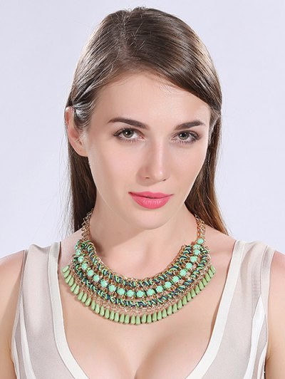 Bohemian Style Water Drop Chains Necklace