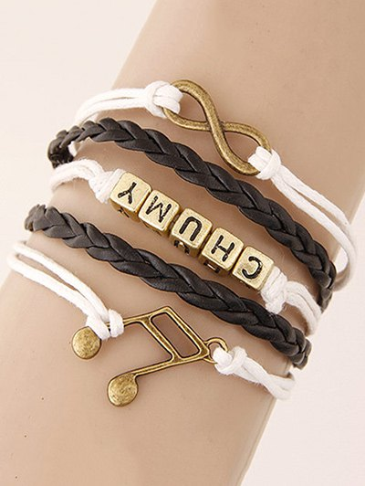 Musical Note Letters Braided Bracelet