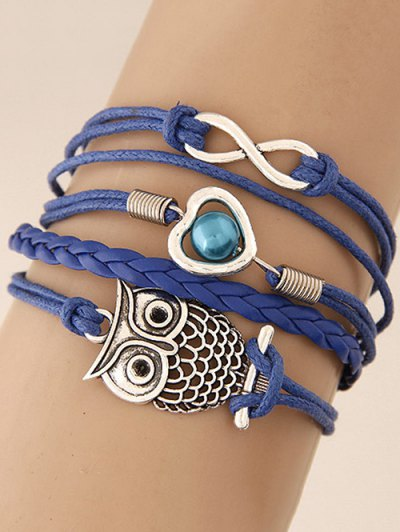 Infinity Heart Owl Braided Bracelet