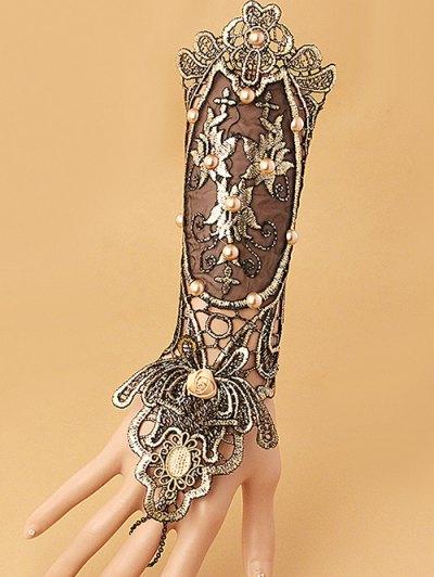 Fake Pearl Rose Lace Glove Bracelet