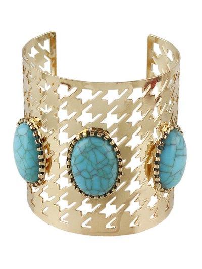 Vintage Faux Rammel Oval Cuff Bracelet