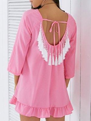 Backless Glands Maj Dress - Rose PÂle L