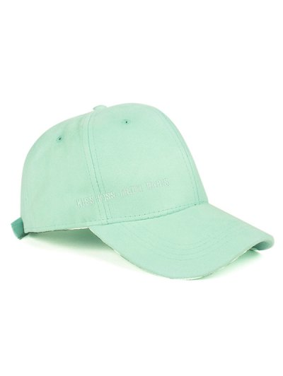 Candy Color Faux Suede Baseball Hat