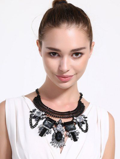 Artificial Crystal Geometric Water Drop Necklace