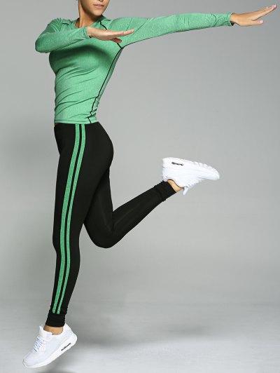 Stretchy Varsity Striped Sports Suit