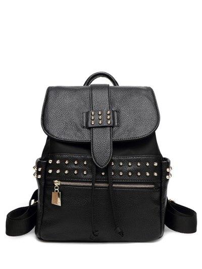 Drawstring Zipper Backpack