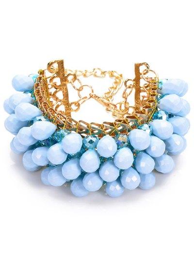Faux Crystal Water Drop Beaded Bracelet