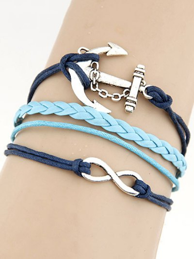 Infinity Anchor Braided Bracelet