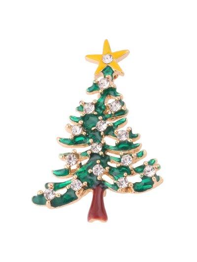 Enamel Christmas Trees Brooch