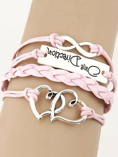 Interlink Heart Braided Bracelet
