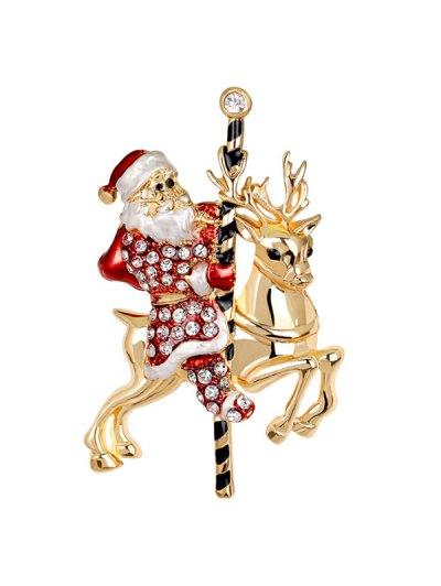 Santa Reindeer Brooch