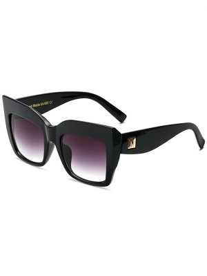 Square Oversized Sunglasses - Black