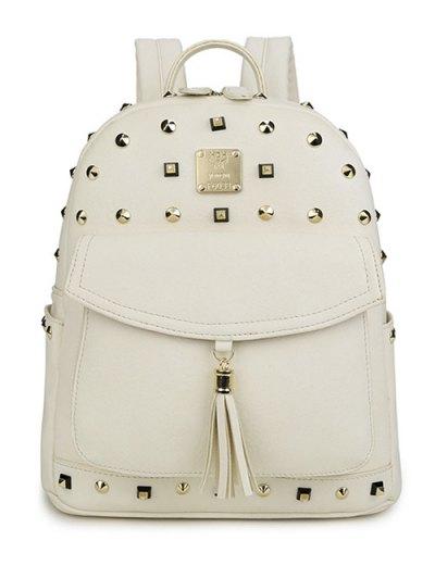 Magnetic Closure Tassels Backpack