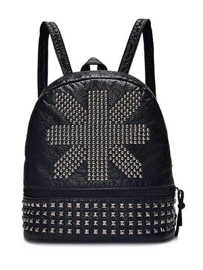 PU Leather Rivet Backpack