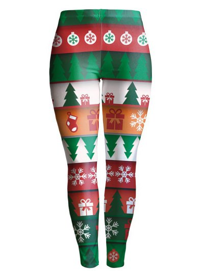 Christmas Tree Printed Leggings