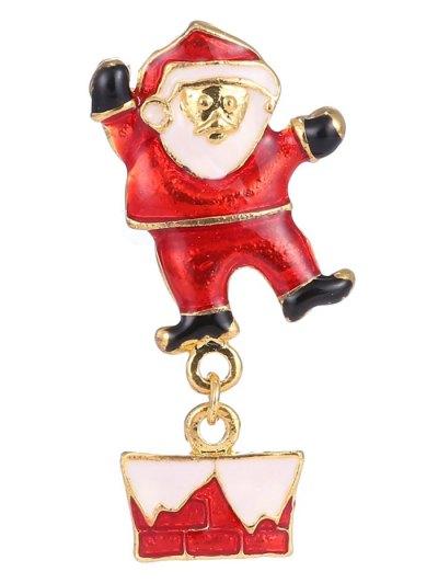 Alloy Santa Christmas Brooch