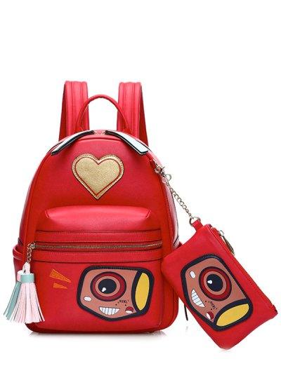 Heart Pattern Tassels Backpack