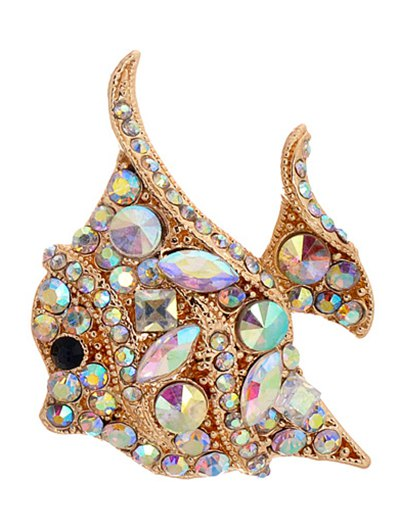 Rhinestone Animal Brooch