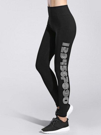 Number Print Gym Leggings