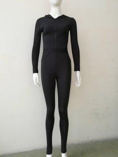 Long Sleeve Skinny Gym Jumpsuit