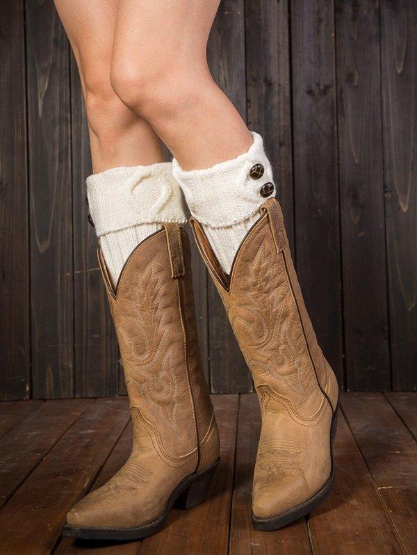 Rhombus Flanging Boot Cuffs