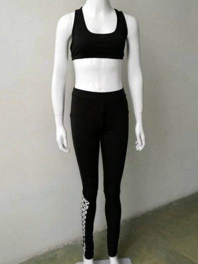 Openwork Sport Bra Bodycon Pants