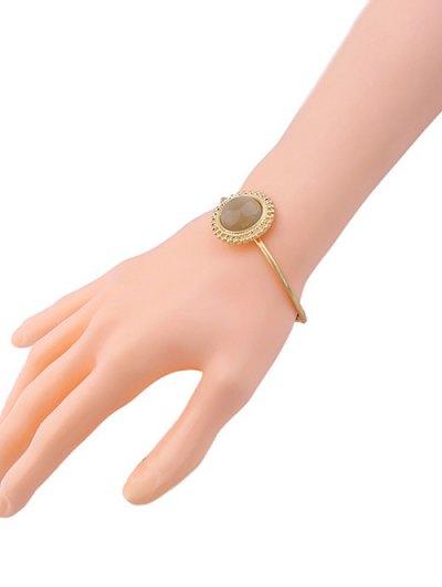 Faux Gem Sun Embellished Cuff Bracelet
