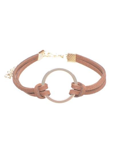Layered Velvet Ring Charm Bracelet