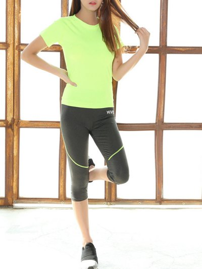 Raglan Sleeve T Shirt and Capri Skinny Pants